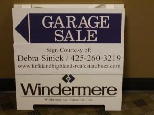 Garage sale signs