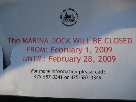 marina-park-dock repair sign