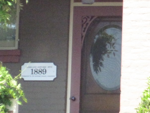 Kirkland Historic Home Plaque