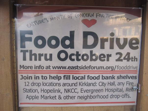 Eastside Month of Concern for the Hungry Food Drive