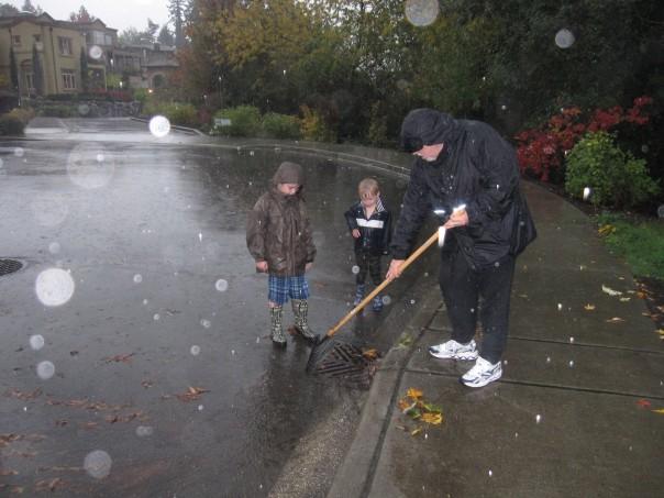 Unclogging the storm drain